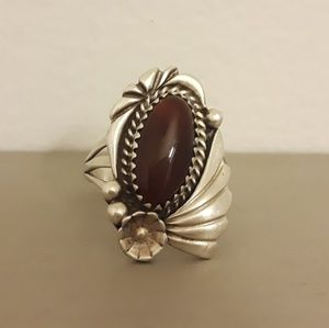 Vintage Carnelian & Sterling Silver Ring